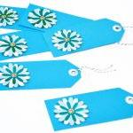 Gift Tags - 6 Aqua & Powder..